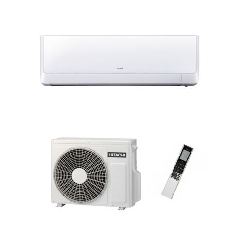 Hitachi Air Conditioning Shirokuma Wall Mounted RAK-25RXB Inverter Heat Pump 2.5Kw/9000Btu A+++ 240V~50Hz